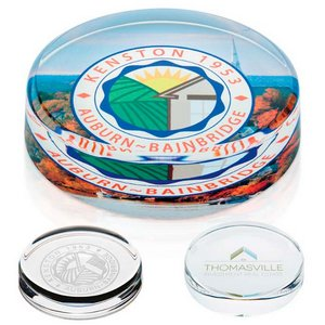 Round Optical Glass Paperweight