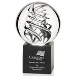 Frosted Swirl Art Glass Award - Large