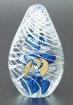 Glacier Swirl Art Glass Award