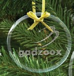 Circle Etched Ornament 3 in. Diameter