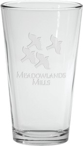 Deep Etched Mixing Glass 16 oz.