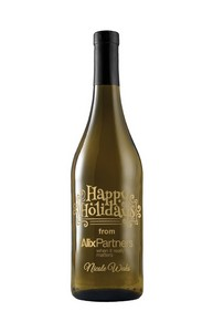 750Ml Standard Chardonnay White Wine Deep Etched w/ 1 Color Fill