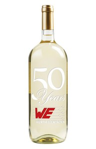 1.5L Magnum Chardonnay White Wine Deep Etched with 2 Color Fill