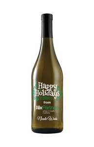 750Ml Standard Chardonnay White Wine Deep Etched w/2 Color Fill