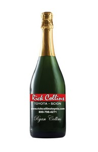 750Ml Standard Non-Alcoholic Sparkling Grape Juice Etched w/ 2 Co