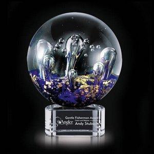 Serendipity Art Glass Award on Clear Base - 6.25 in. Diam