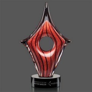Rialto Award on Black Base - 10 1/2  Small