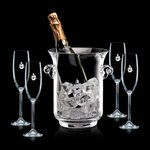 Lyndhurst Champagne Bucket and 4 Flutes