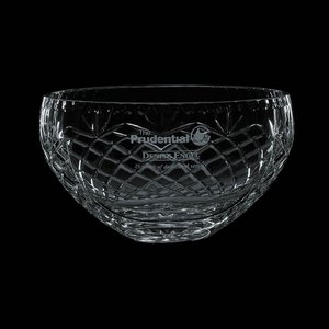 Medallion Cut Crystal Bowl - 10 in.