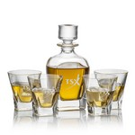 Chesswood Decanter and 4 On-the-Rocks