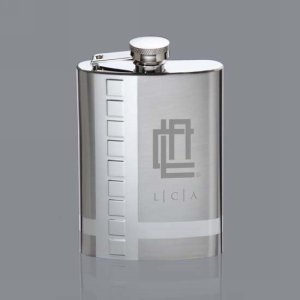 Hobard Hip Flask - 6oz Stainless Steel