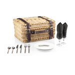Champion Picnic Basket, (Black Lining & Napkins with Dark Brown