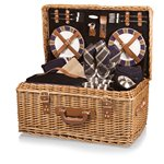 Windsor Picnic Basket, (Navy with Plaid)