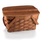 Prairie Picnic Basket, (Natural Wood)