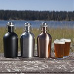 Stainless Steel 64-oz. Growler, (Copper)