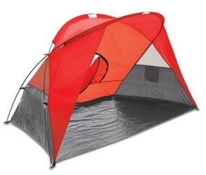 Cove Sun Shelter, (Red with Grey Trim)