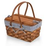 Kansas Handwoven Wood Picnic Basket