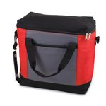 'Montero' Cooler Tote, (Red with Grey & Black)