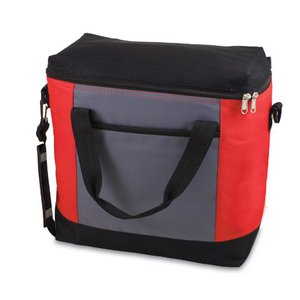 Montero Cooler Tote, (Red with Grey & Black)