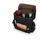 Moreno 3-Bottle Wine & Cheese Tote, (Black)