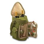 Meritage Wine & Cheese Tote, (Olive Green)