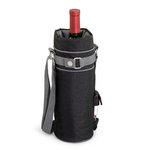 'Wine Sack' Beverage Tote, (Black with Grey)