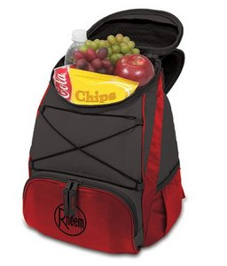 PTX Cooler Backpack, (Red with Dark Grey)