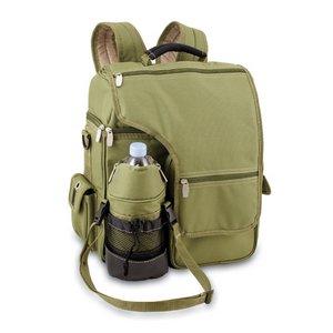 Turismo Cooler Backpack, (Olive Green & Tan)