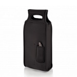 'Samba' 2-Bottle Wine Tote, (Black)