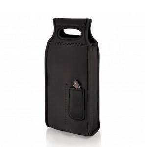 Samba 2-Bottle Wine Tote, (Black)