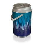 Mega Can Cooler, (Blue Flame Design)