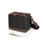 Beer Caddy Cooler Tote with Opener, (Black Brown)
