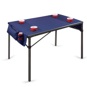 Travel Table Portable Folding Table, (Navy)