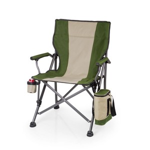 Outlander Camp Chair with Cooler, (Khaki Green)