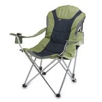 Reclining Camp Chair, (Sage Green with Dark Grey)