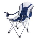 Reclining Camp Chair, (Navy & Grey)