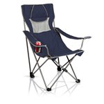 Campsite Camp Chair, (Navy with Grey)