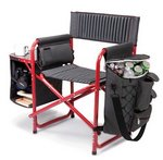 Fusion Backpack Chair with Cooler, (Dark Grey with Red)