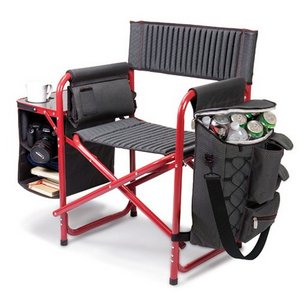 Fusion Backpack Chair with Cooler, (Dark Grey with Black)
