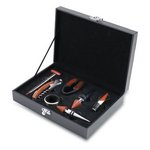 Grenache 7-Pc Wine Accessories Set, (Black)