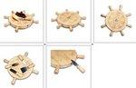 Mariner Lazy Susan Cheese Board & Tools Set