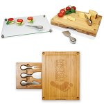 Concerto Glass Top Cheese Board & Tools Set