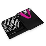 Vista XL Outdoor Blanket Tote, (Black with Zebra Print)