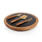 Insignia -Acacia and Slate Serving Board with Cheese Tools