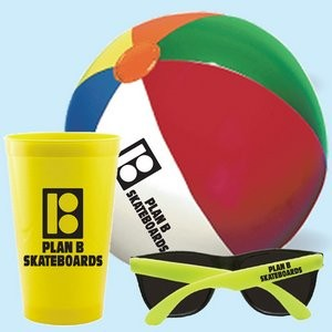 Custom Stadium Cup, Beach Ball and Promotional Sunglasses Kit