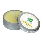 Cloud 9 Candle Small Push Tin Silver