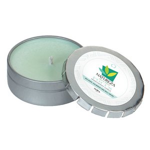 Focus Essential Oil Infused Soy Wax Candle Small Push Tin Silver