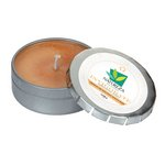 Invigorate Candle Small Push Tin Silver