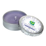 Tranquility Candle Small Push Tin Silver